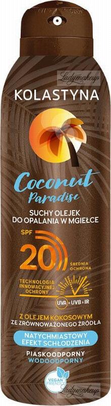 KOLASTYNA - Coconut Paradise - Suchy olejek do opalania w mgiełce - SPF20 - 150 ml