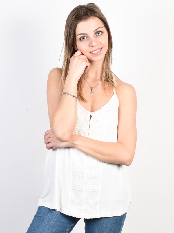 Roxy CRAZY MEMORIES Marshmallow bawełniany podkoszulek damski