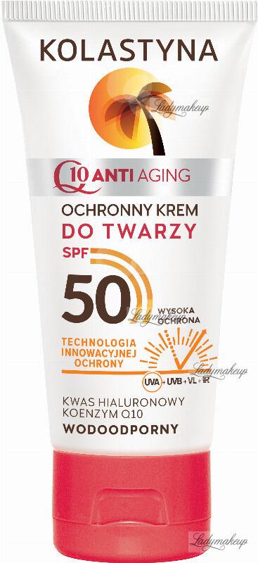 KOLASTYNA - Q10 ANTI AGING - Ochronny krem do twarzy - SPF50 - 50 ml