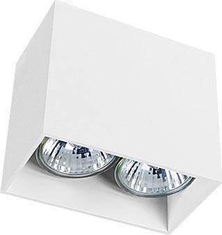 Oprawa natynkowa Gap 9385 Nowodvorski Lighting prostokątna biała lampa sufitowa
