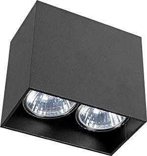 Oprawa natynkowa Gap 9384 Nowodvorski Lighting prostokątna czarna lampa sufitowa