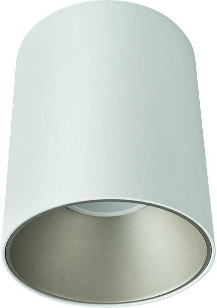 Plafon Eye Tone 8928 Nowodvorski Lighting biała oprawa ze srebrnym pierścieniem