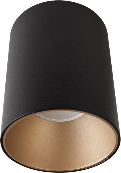 Plafon Eye Tone 8931 Nowodvorski Lighting czarna oprawa ze złotym pierścieniem