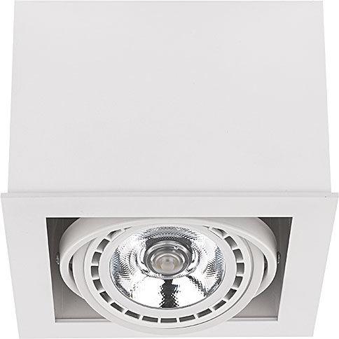 Oprawa natynkowa Box ES111 9497 Nowodvorski Lighting biała oprawa w kształcie kostki