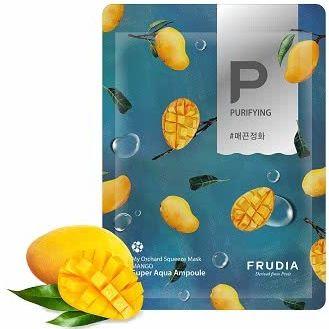Frudia Squeeze Oczyszczająco-wygładzająca maseczka do twarzy w płachcie mango 20ml