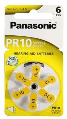 Baterie do aparatów słuchowych PANASONIC PR10 6szt.>>Teraz w zestawie do 70% TANIEJ. Sprawdź!