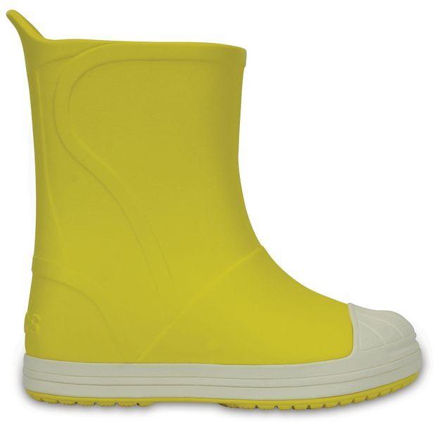 Kalosze dziecięce CROCS Bump It Boot żółte 20351573K