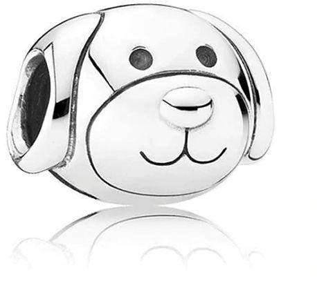 Rodowany srebrny charms do pandora piesek pies dog puppy pupil srebro 925 PAS052