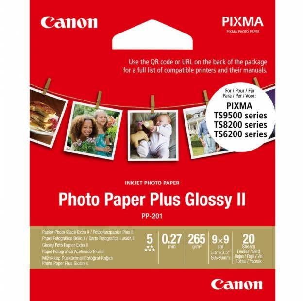 Papier CANON PP-201 Photo Paper Plus Glossy II 260g/m2 - 9x9 cm, 20 arkuszy (2311B070)