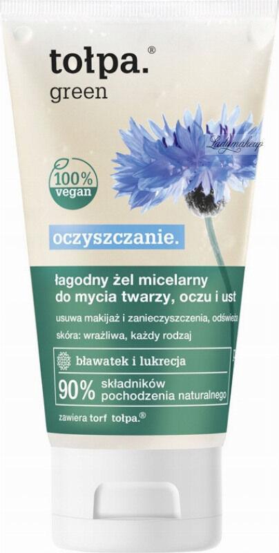 Tołpa - Green - Łagodny żel micelarny do mycia twarzy, oczu i ust - 150 ml