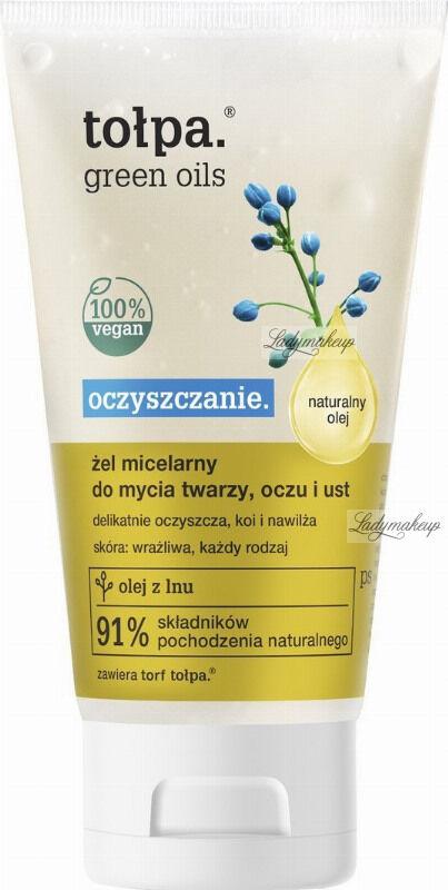 Tołpa - Green Oils - Żel micelarny do mycia twarzy, oczu i ust - 150 ml