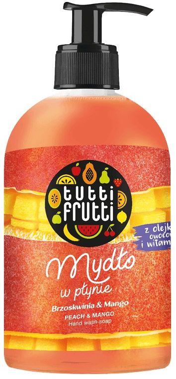 TUTTI FRUTTI Brzoskwinia i Mango Mydło w płynie z olejkami owocowymi i witaminą E 500ml