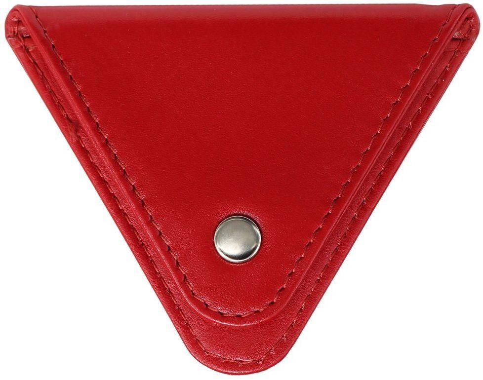 Bilonówka damska skórzana na monety (czerwony) - Czerwony