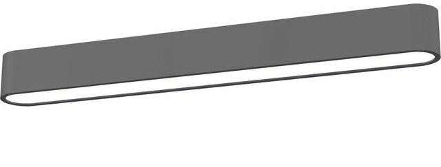 Plafon Soft LED 9537 Nowodvorski Lighting podłużna oprawa natynkowa w kolorze grafitu