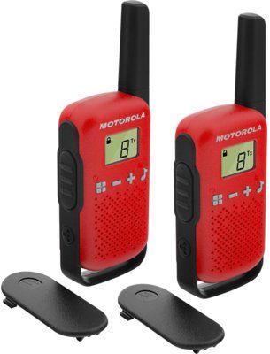 Radiotelefon PMR MOTOROLA T42 Talkabount Czerwony>>Teraz w zestawie do 70% TANIEJ. Sprawdź!