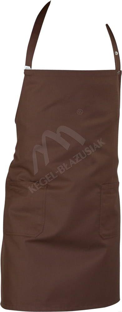 Fartuch przedni z kieszeniami brązowy