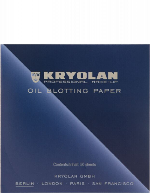 KRYOLAN - OIL BLOTTING PAPER - Bibułki matujące 50 szt - ART. 9789