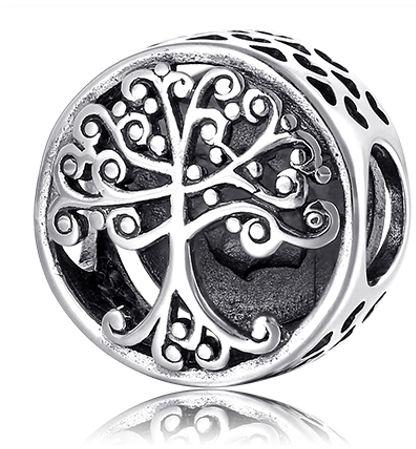 Rodowany srebrny charms pandora drzewo życia tree of life srebro 925 B-51