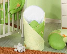 MAMO-TATO Rożek niemowlęcy Ślimaki kremowe