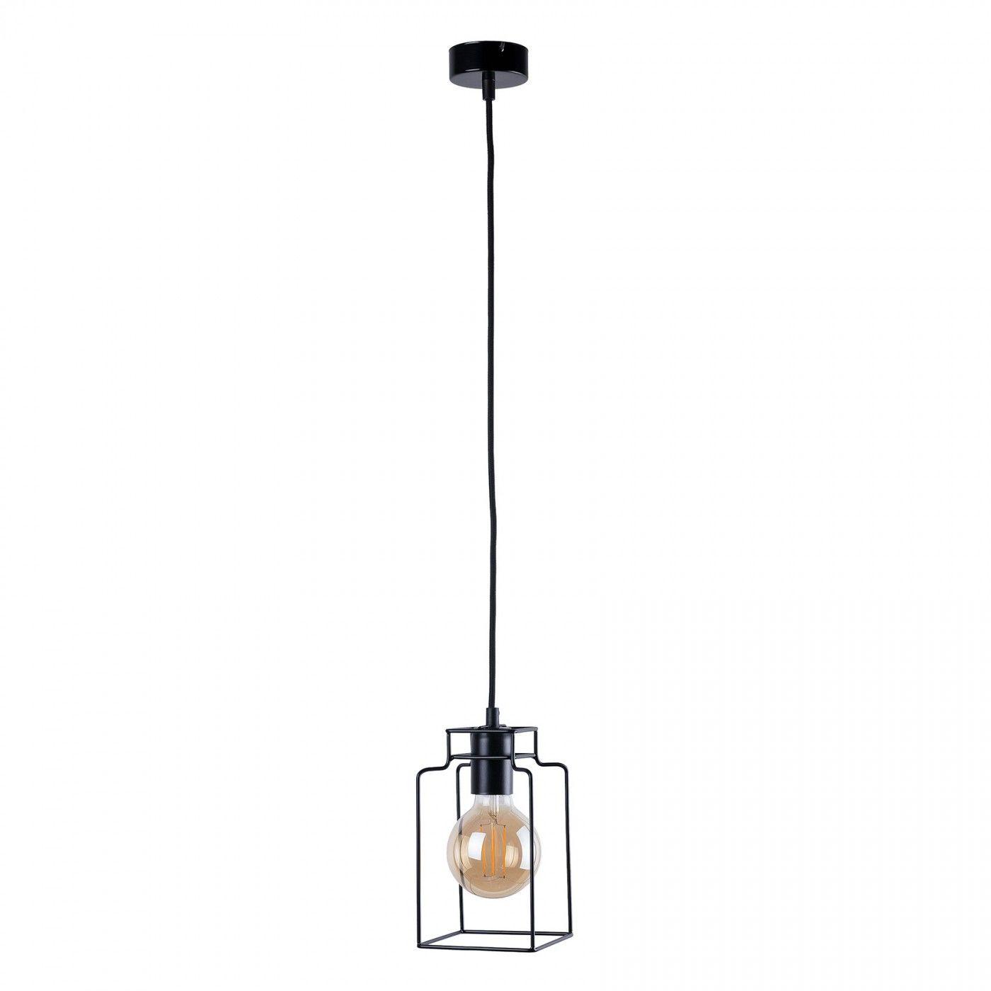 Lampa wisząca Fiord 9668 Nowodvorski Lighting pojedynczy czarny zwis w nowoczesnym stylu