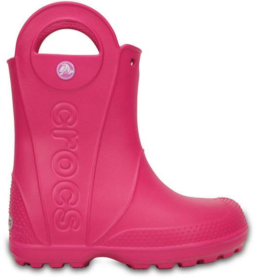 Kalosze dziecięce CROCS HANDLE RAIN BOOT KIDS CANDY PINK128036X0