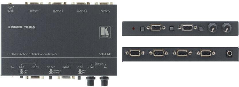 Kramer VP-242 wzmacniacz dystrybucyjny 2x1 UXGA z 1:4