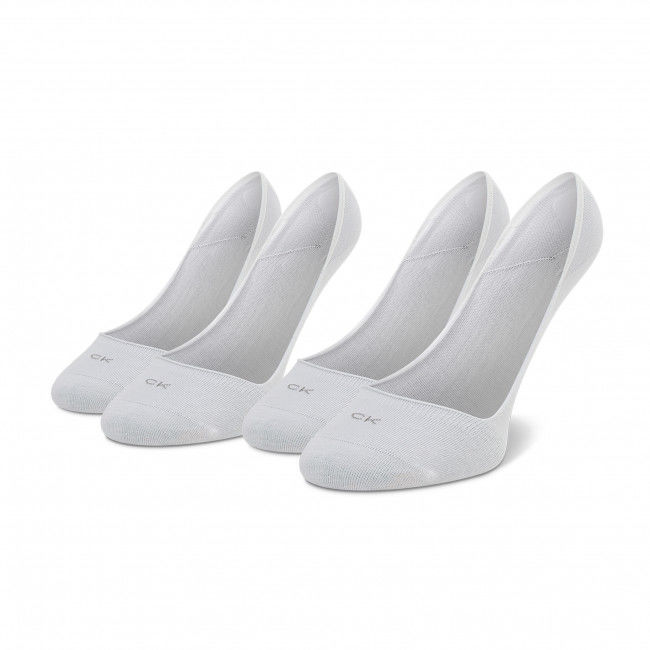 Zestaw 2 par stopek damskich CALVIN KLEIN - 701218767 White 002