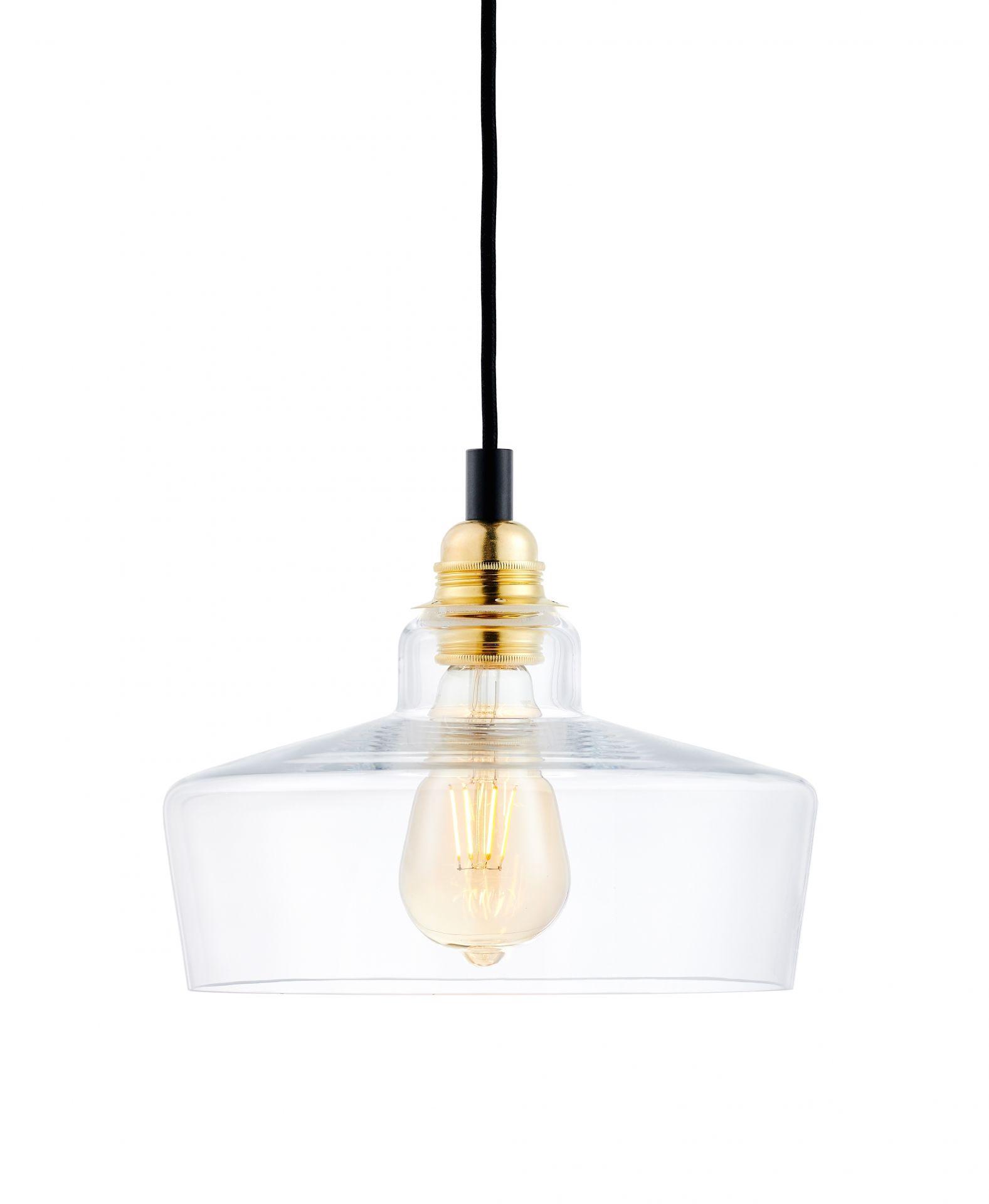Lampa wisząca Longis III Gold 10873105 KASPA nowoczesna szklana oprawa wisząca