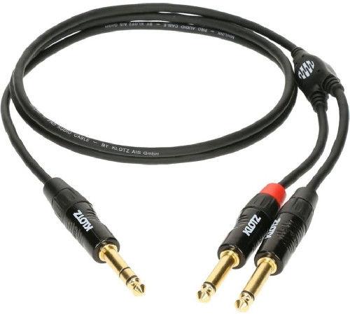 KLOTZ Minilink PRO KY5-090 mini jack 3.5 mm - 2 x jack 6.35 mm - 0.9 m +9 sklepów - przyjdź przetestuj lub zamów online+