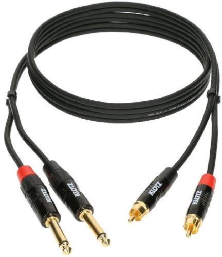 KLOTZ Minilink PRO KT-CJ150 2x RCA - 2x jack 6.3 mm PRO - 1.5 m +9 sklepów - przyjdź przetestuj lub zamów online+