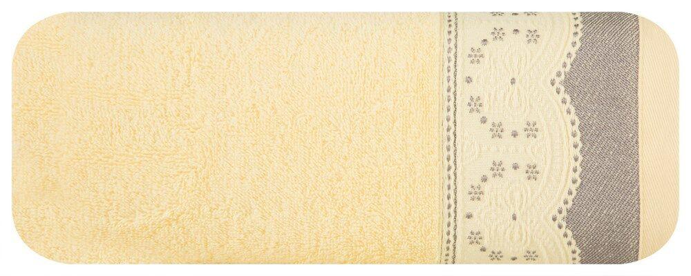 Ręcznik Tina 50x90 03 jasny żółty 450g/m2 frotte Eurofirany