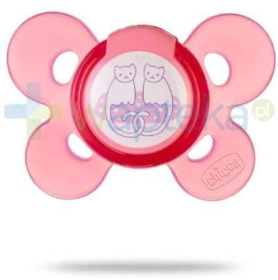 Chicco smoczek Physio Comfort silikonowy różowy 4m+ 1 sztuka