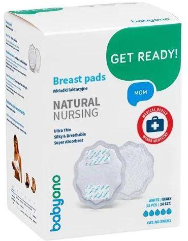 Babyono wkładki laktacyjne Natural Nursing 24 sztuki [298/01]