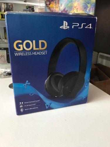Słuchawki Wireless Headset Sony Gold PS 4 Używane