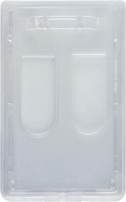 Etui na identyfikator - przezroczyste, na dwie karty, pionowe