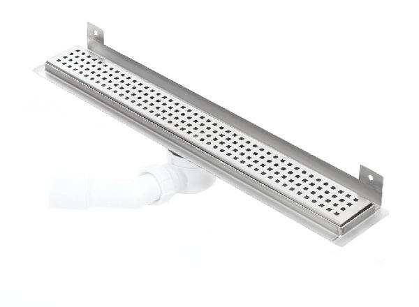Kesmet Wall Silver Square odpływ ścienny 500KWF_p 500mm (syfon plastikowy)