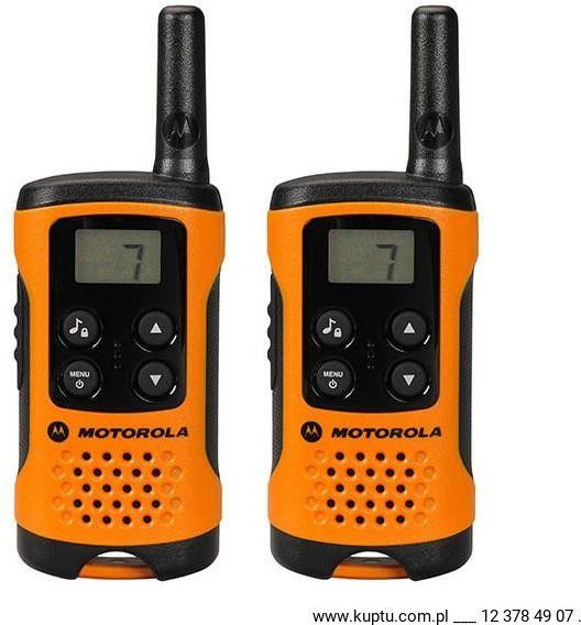 Motorola TLKR T41 radiotelefon pomarańczowy