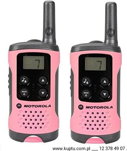 Motorola TLKR T41 radiotelefon różowy