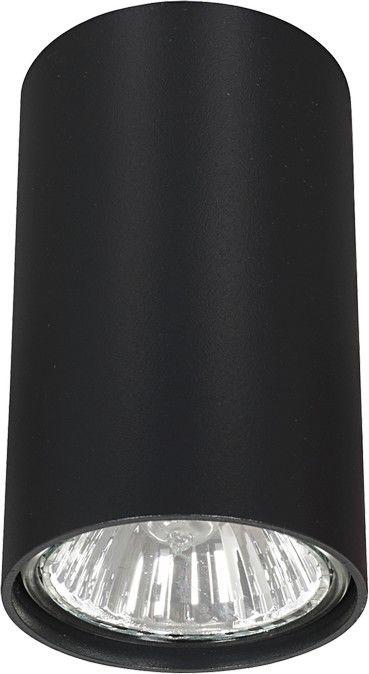 Plafon Eye S 6836 Nowodvorski Lighting czarna nowoczesna oprawa w kształcie tuby